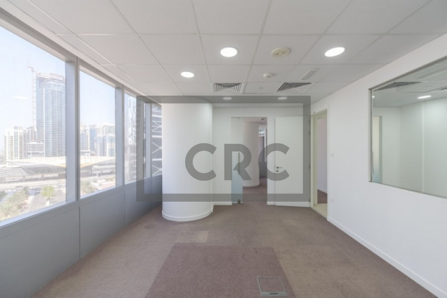 furnished office for rent in jumeirah lake towers, almas tower | 1
