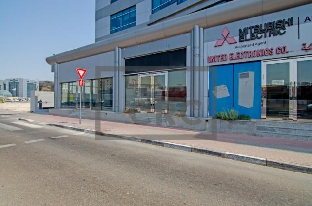 retail for rent in al garhoud, al nisf building   14